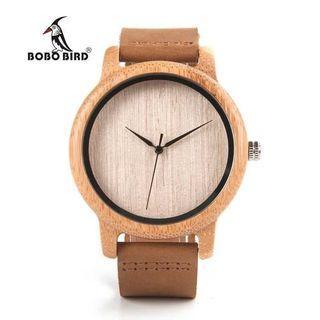 BOBO BIRD Jam tangan kayu analog pria