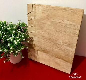 WOODEN COVER BLANK PHOTO ALBUM