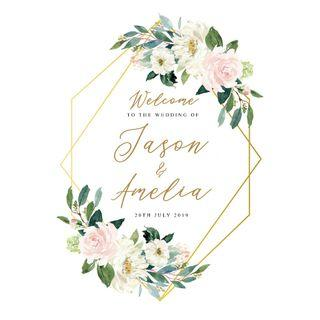Floral Wedding Welcome Signage
