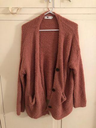 Brown fluffy cardigan
