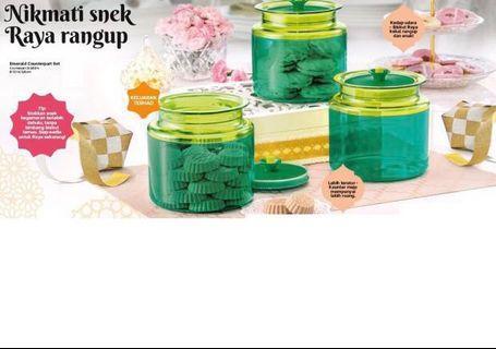 Tupperware emerald counterpart set