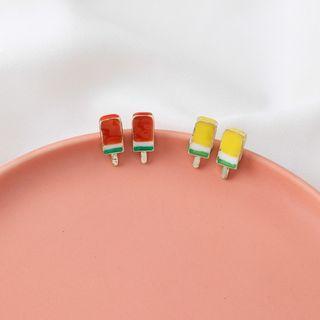 {朵朵韓飾} B2827 韓國直送(正韓)-925銀針 甜美可愛彩釉冰淇淋雪糕耳環(二色)
