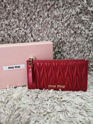 (現貨) 2色 Miumiu card holder wallet 卡片套銀包 6咭位 16x8.5cm