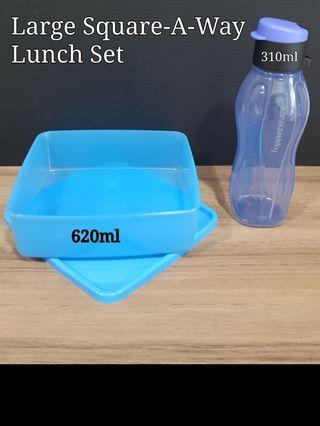 Tupperware Large Square-A-Way Set Retail Price S$18.50 Now S$16.20