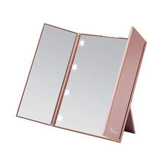 898. Miss Sweet Small Led Lighted Tri-Fold Makeup Travel Mirror
