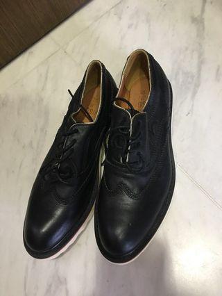 EVISU Black Leather Shoes