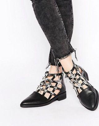 Eeight London Nelly cut out star embellished leather ankle boot ( bought from i.t.)
