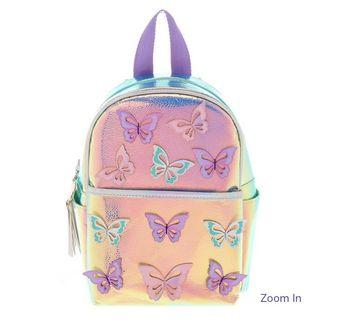 Claire's Girls Holographic Butterfly Backpack - 1 Piece only!