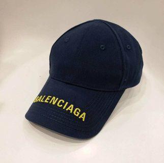 (現貨) Balenciaga cap 帽 深藍拼黃 男女同款 可調較