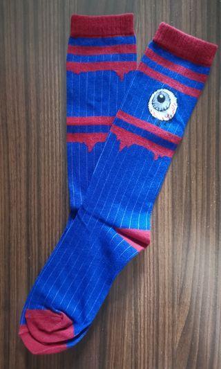 全新 眼球襪 長襪