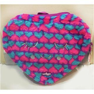 Smiggle Bag Fluffy Heart Backpack- brand New with The Tags