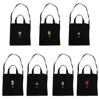 Bts Bt21 Embroidery Canvas Bag