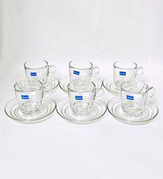 🚚 Ocean 6 cafe latte cups with saucers