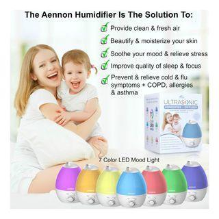 904. Aennon Cool Mist Humidifier, 2.8L Purple