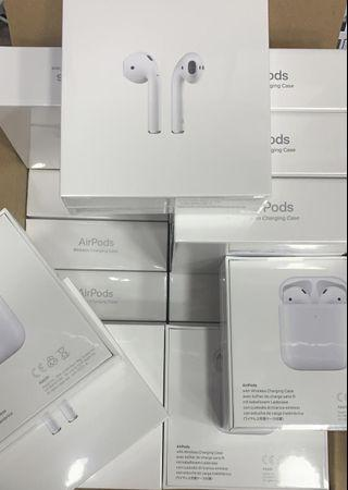 Apple Airpods 2 2019 (with) wireless charging case(💯%全新New) ⚠️seal pack original ($1599)