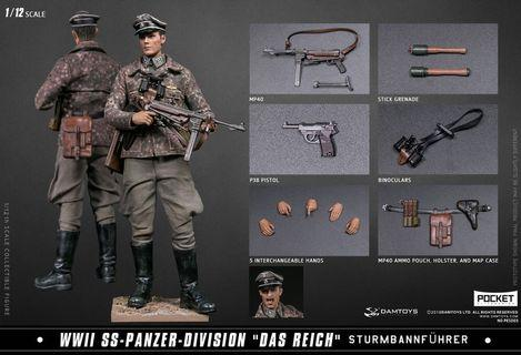 Damtoys 1/12 Scale PES003 Panzer WWII WW2 Soldier