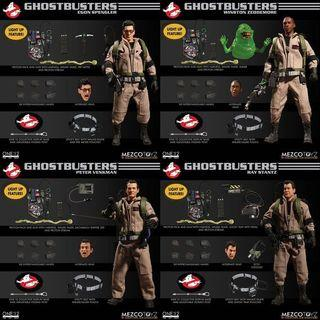 Mezco One:12 Collective Ghostbusters Set of 4