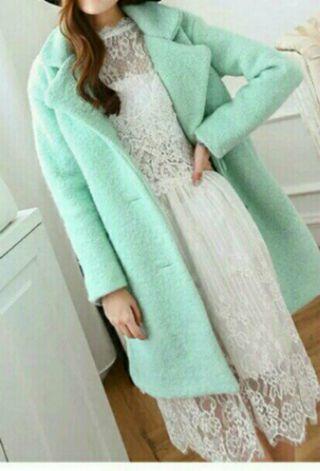 New Korea mint coat oversize coat