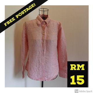 FREE POSTAGE : BELLE Formal Shirt in Pink