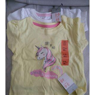全新-Primark Baby Girl T-Shirt with hangtag --3-6months.--2pcs #MTRtw
