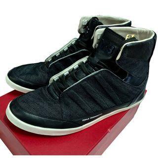 【專櫃正品】山本耀司Yohji Yamamoto Y-3 異材質 丹寧布+皮革+漆皮 低筒 休閒鞋 短靴