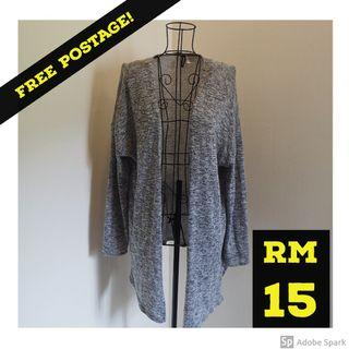FREE POSTAGE H&M Divided Long Cardigan in Gray