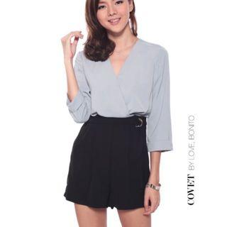 Love bonito two duo tone contrast buckle romper playsuit