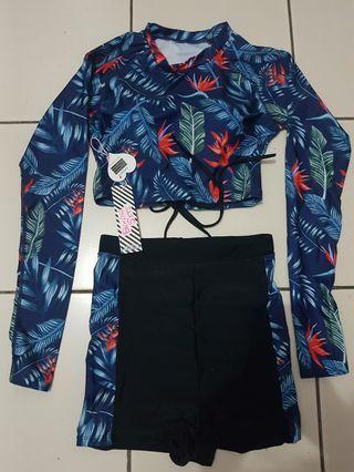 Swimsuit 2 piece crop top