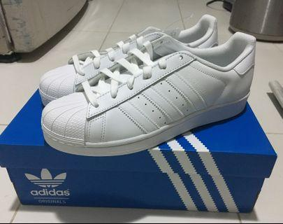 Adidas All White Superstar Sneakers