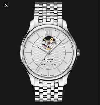 Tissot Tradition Powermatic 80 Silver Metal Bracelet Watch T063.907.11.038.00