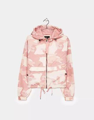 bershka pink camo jacket