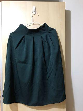 復古綠半裙