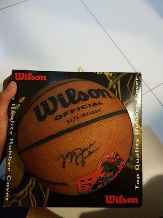 Michael Jordan Restaurant Wilson Miniature Mini Basketball Memorabilia