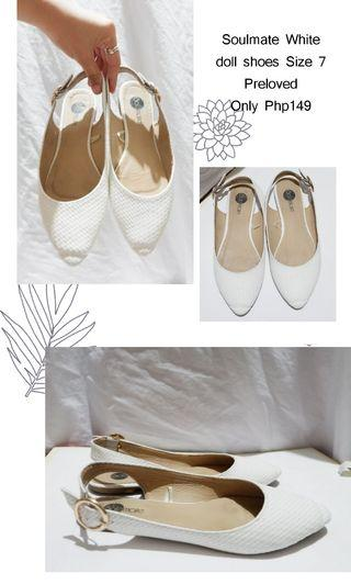 Soulmate White doll shoes