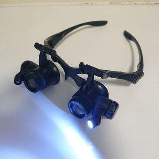 頭戴式 放大鏡 眼鏡 修錶