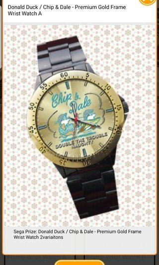 Chip & Dale - Premium Gold Frame Wrist Watch A