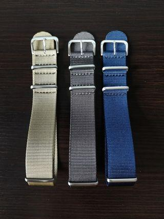 1 x NATO + 1 x ZULU bundle 22mm suitable for skx , skx007, Seiko, omega, orient, tudor ,Seiko turtle, seiko tuna , orient ray , Rolex , steinhart
