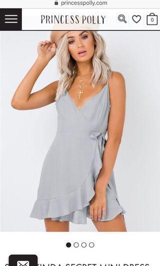 Baby blue/ greyish mini dress