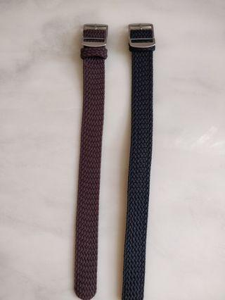 *Clearance sales last piece* Black perlon strap 20mm