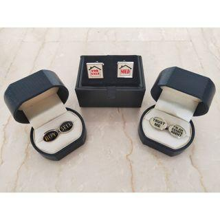 Real Estate Property Cuff Links (3 Pairs)