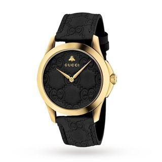 Gucci YA1264034 G-Timeless Black GG Dial Ladies Watch