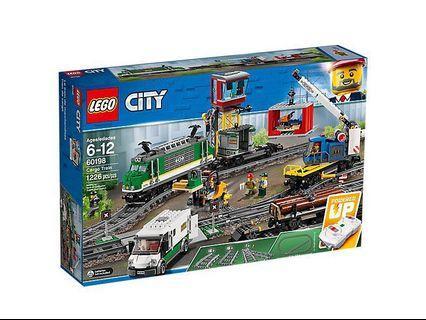 全新 lego city 60198 遙控火車 cargo train