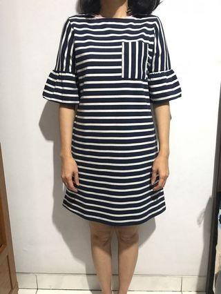 Cotton ink stripe dress