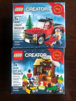 Lego Christmas sets x 2