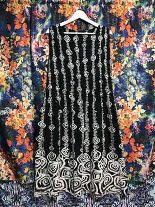 古著 vintage 壓褶 洋裝 歐式 復古