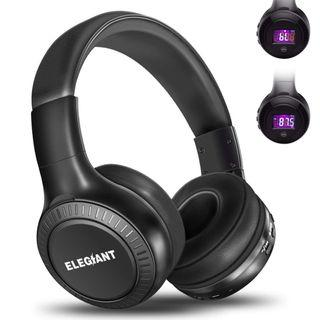 2B 722 BNIB Bluetooth Headphones, ELEGIANT On Ear Bluetooth Headset Foldable with Mic FM Radio Micro SD Card Slot Wired and Bluetooth Headphones Compatible iPhone 8 7 6S 6/Android Phones/Laptop/PC Black