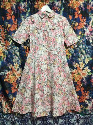 古著 vintage 洋裝 歐式 復古