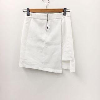 Slit Highwaist Skirt in White