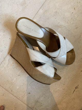 CnK White Wedges sandal