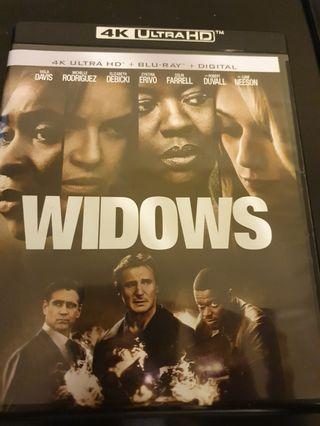 Widows 4k UHD + blu-ray movie